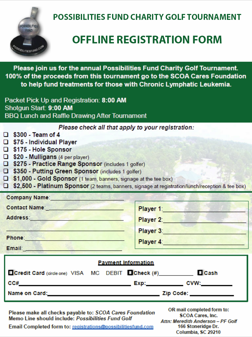 Offline Forms | Possibilities Fund Golf Tournament